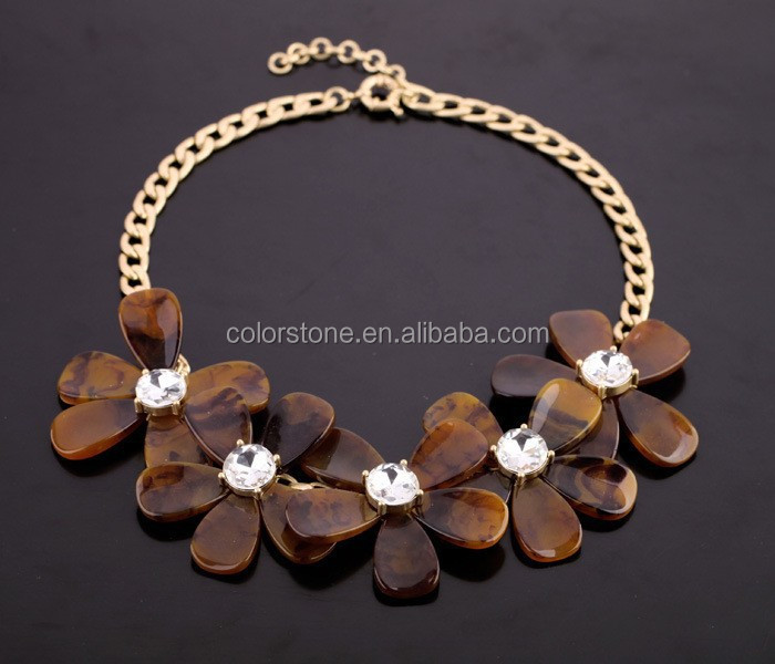 Baltic amber Necklace Flower crystal flower amber teething necklace vintage amber necklace