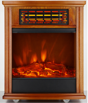 Infrared Portable Heater with fireplace flame