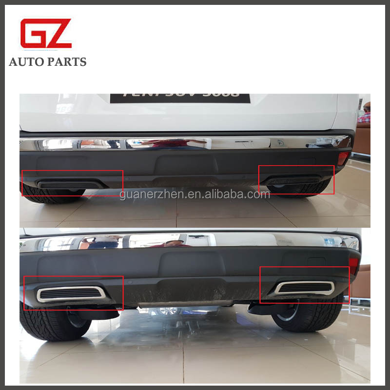 Rear exhaust board original replacement for 2017 peugeot 3008 auto accessory