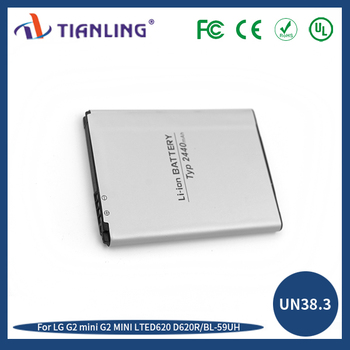 All phone Model Battery 2400/2370mah BL-59UH lithium ion battery 3.8V G2MINI/LTED620/D620R for LG