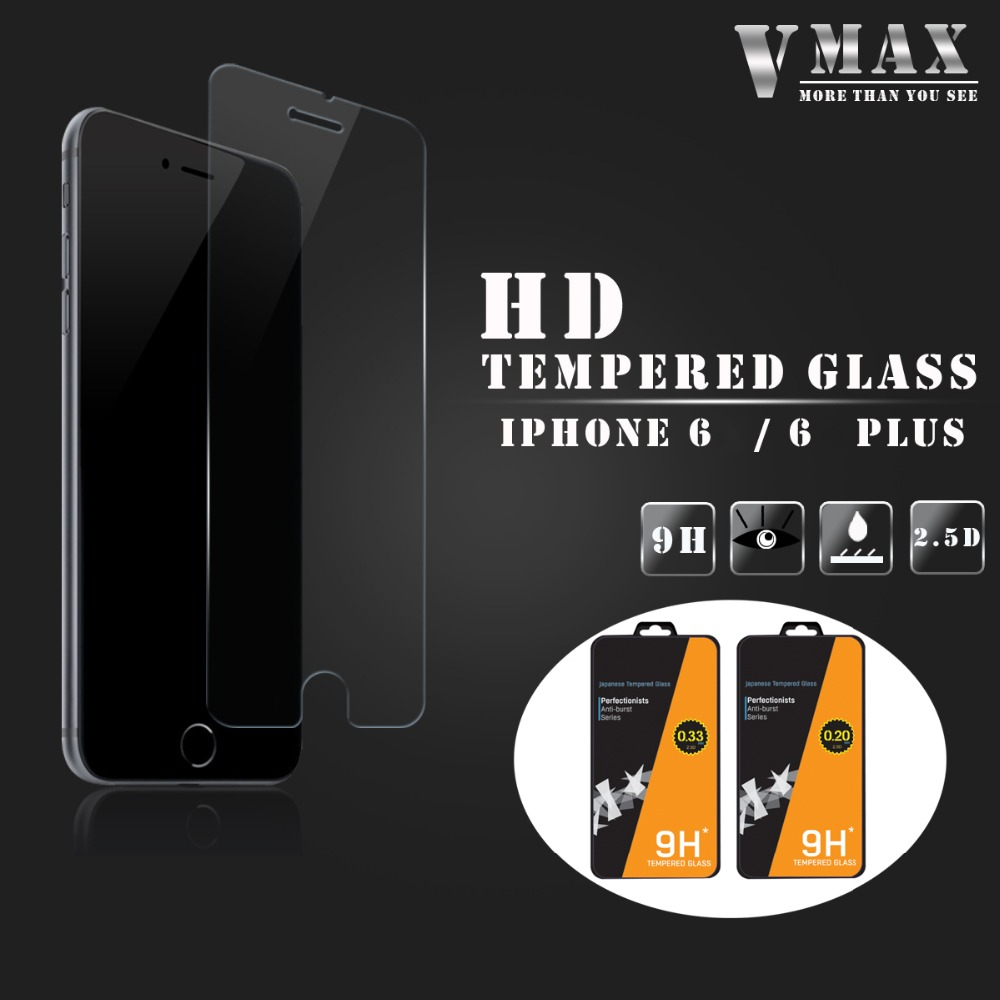 Factory Frice!! 9H premium tempered glass screen protector for iPhone 6 (Glass Shield)