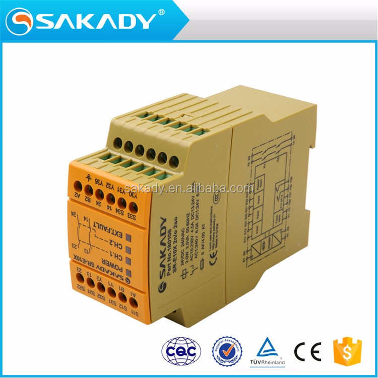 MEGA Self-monitor function plastic shell CCC CE TUV Industrial automatic safety relay