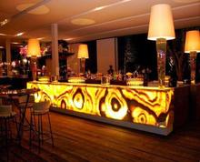 Elegant Luminescent Stone Slab Artificial Marble Panels Slabs for Led Lighting Bar Counter