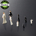 1:25 1:30 1:42 1:50 1:75 1:87 1:100 1:150 1:200 1:300 scale plastic white mini model figures for architectural&train model