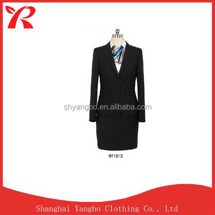 Customized Low price promotional 2017 women formal business suit