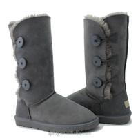 Warm sheepskin brand name women winter boots