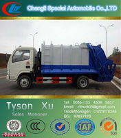 4x2 small hydraulic lifter container garbage truck, 2-5 tons mini garbage truck