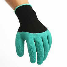 Garden Genie Gloves Made of Premium Natural Latex Rubber with Right Hand Fingertip Claws for Digging, Raking