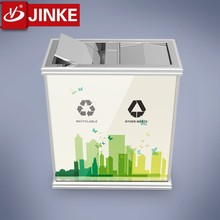 Cheap High Quality Hotel Use Dustbin Advertising Two Bins Trash Can