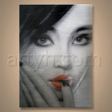 Wholesales Painting Handmade Woman Hot Images Art