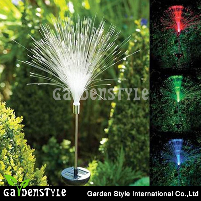 rgb led light Fibre Optic Colour Lamp, Solar Power Stake led decorative light, Color Changing decoration light