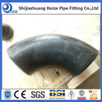 carbon steel seamless butt welded short radius 90 degree elbow