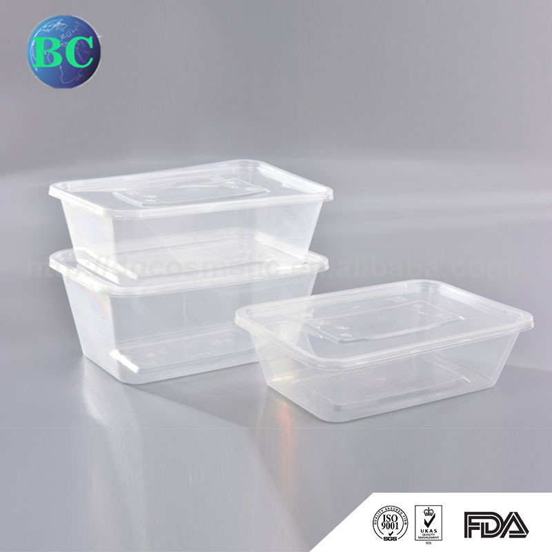 Most Popular Alibaba China Disposable Plastic Sushi Fast Food Container With Lid