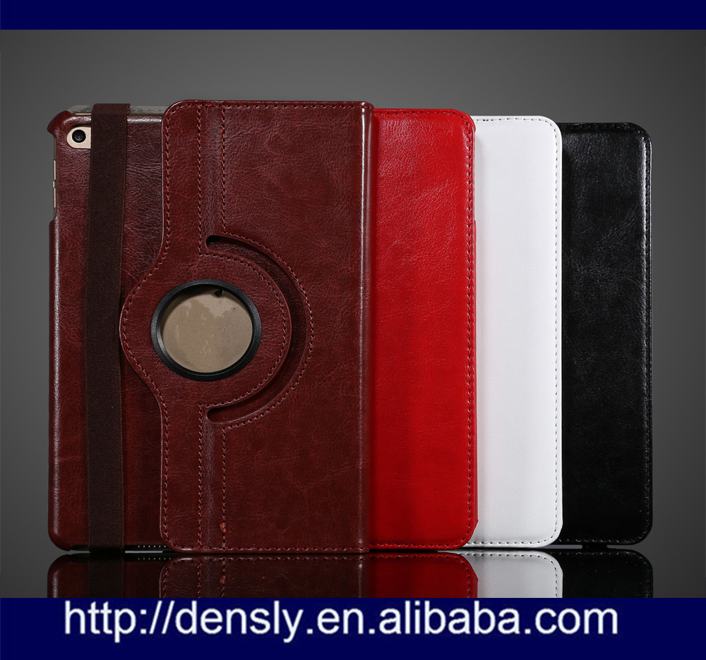 High quality 360 Rotating Leather Case for ipad mini 4