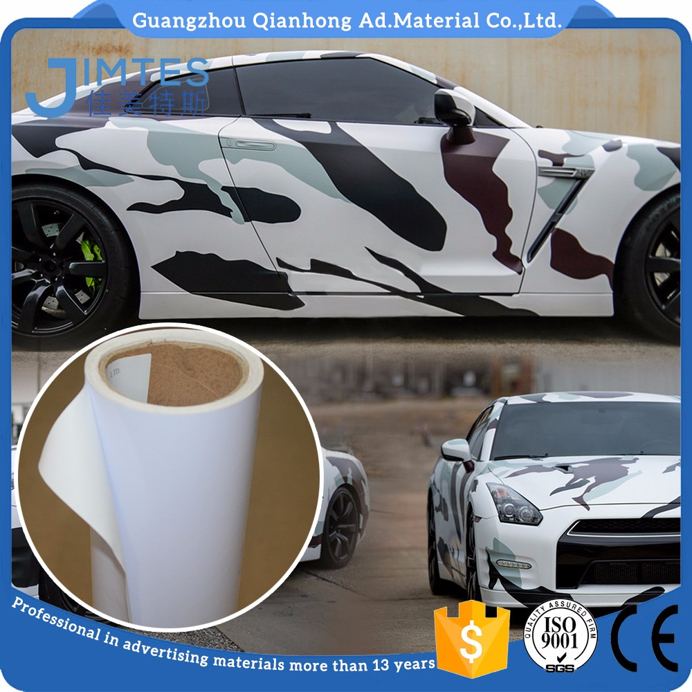 Good quality car bus self adhesive casting black back bubble free printing vinyl for bus