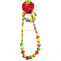 plastic bead necklace for kids, plastic bead necklace, bead necklace designs