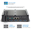 Fanless Embedded Industrial Computer Core i5 4200U Win10 Linux 2.6GHz 2 LAN 6 RS232 COM Rugged ITX Case Mini PC