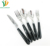 20pcs Flatware Set18/8 Stainless Steel Plain Plastic Handle Cutlery with Mirror Polish