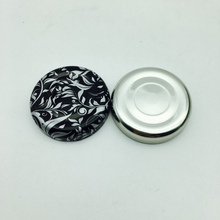 38mm tinplate bottle screw caps with safety push button