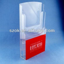 High quality desktop clear acrylic brochure magazine holder