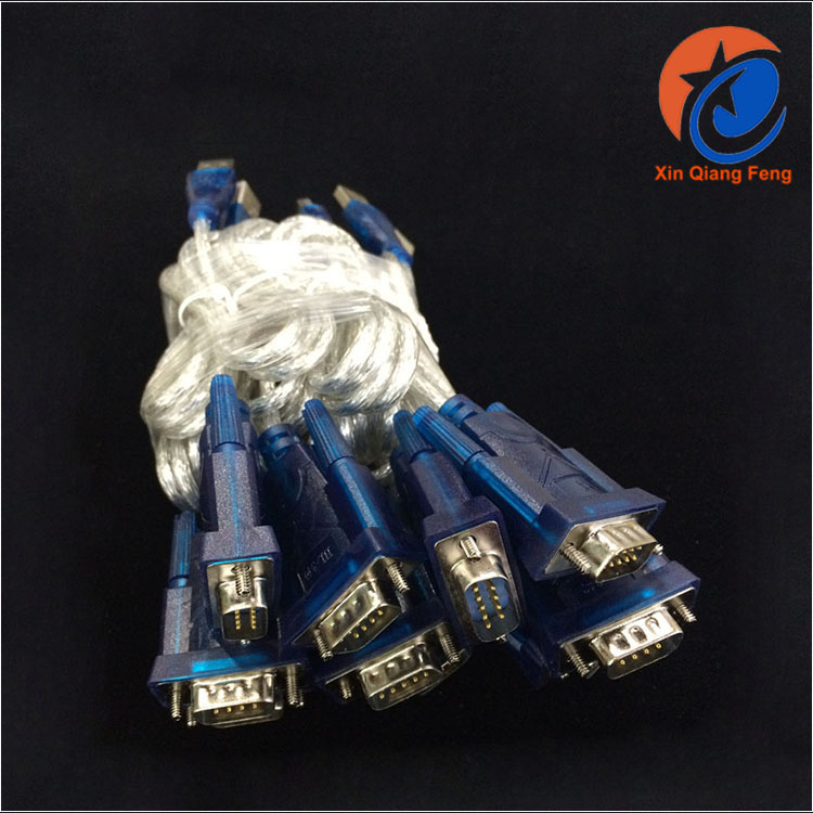 Durable high quality blue usb to rs 232 convert cable