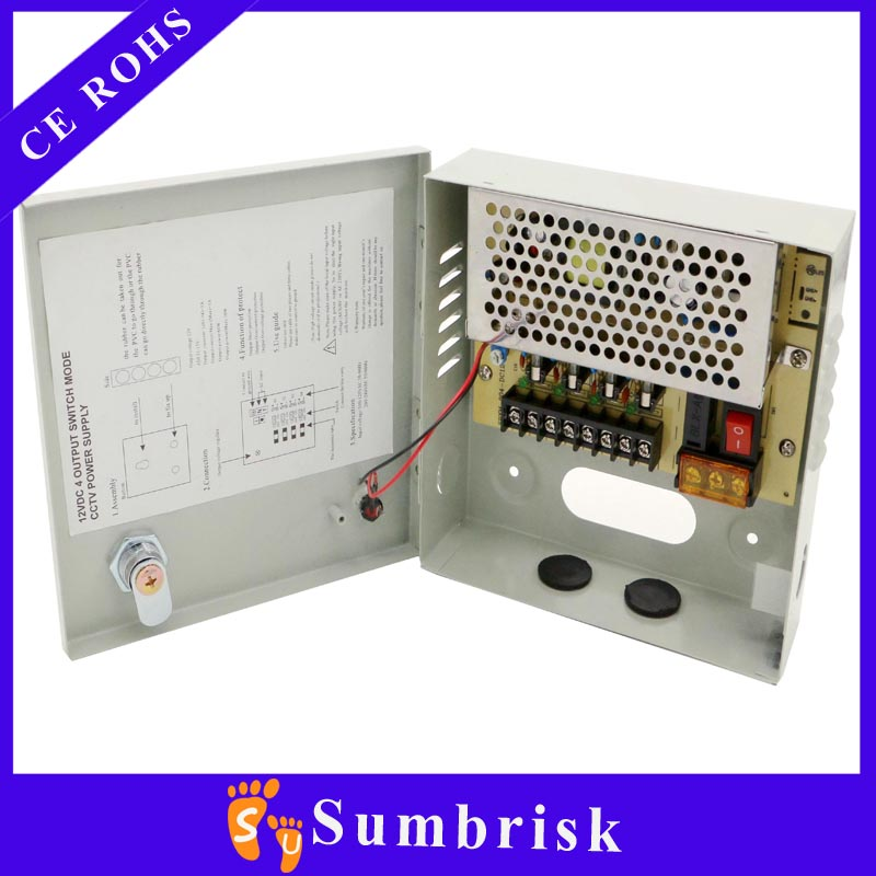 SMPS Multiple output 12v 5A 9channels power supply for cctv camera