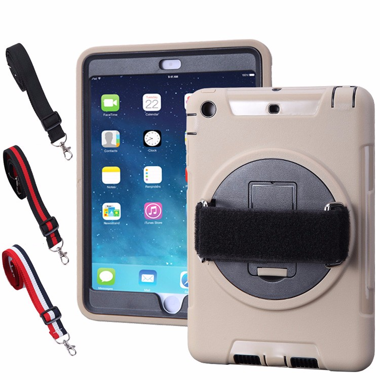 Newest Arrival 360 Degree Rotating hand strap case cover for apple for ipad mini