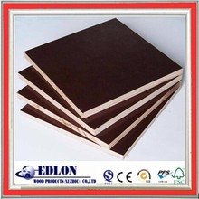 timber & lumber 4x8 film faced plywood board 16mm , black / brown laminated plywood formwork made in china