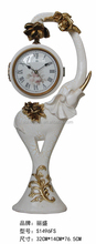 Elephant stand clock/resin antique floor clock/double side clock