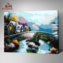 2016 High Quality Handmade Artworks Original Wall Art Decoration Modern Abstract Oil Paintings by numbers On Canvas