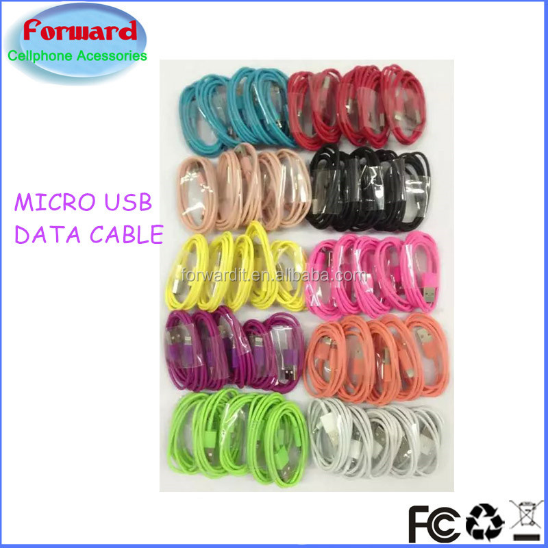 colorful 3ft sync and charge micro usb to usb cable for huawei P9 P8 P7 galaxy s7 s6 s5 s4 s3