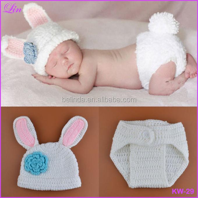 Envío gratis por DHL/FEDEX/SF bebé conejo sombrero y pañal cubierta ...