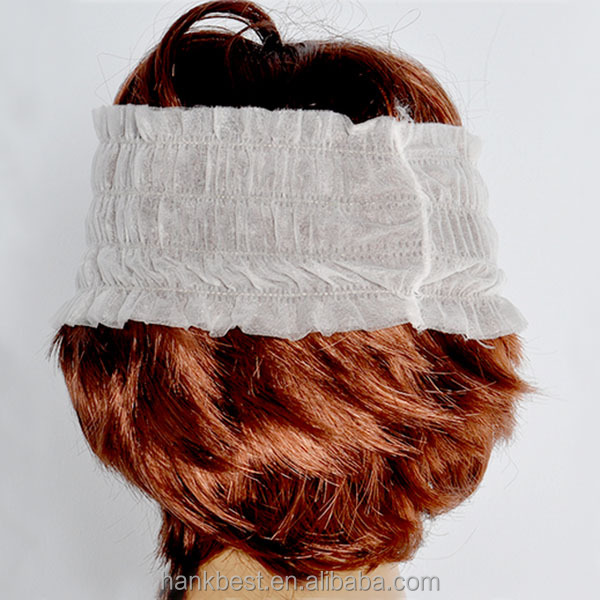 Nonwoven Disposable Head Band Spa Head Band For Beauty Parlor