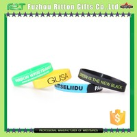 Personalized free rubber bracelets.silicone bracelets