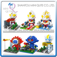 Mini Qute LOZ Anime super hero robot cartoon Ultraman diamond block plastic cube building blocks bricks educational toy