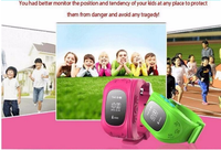 Hot product mtk6261 smart watch 2015 android baby watch q50 with sos,gps,pedometer for kids