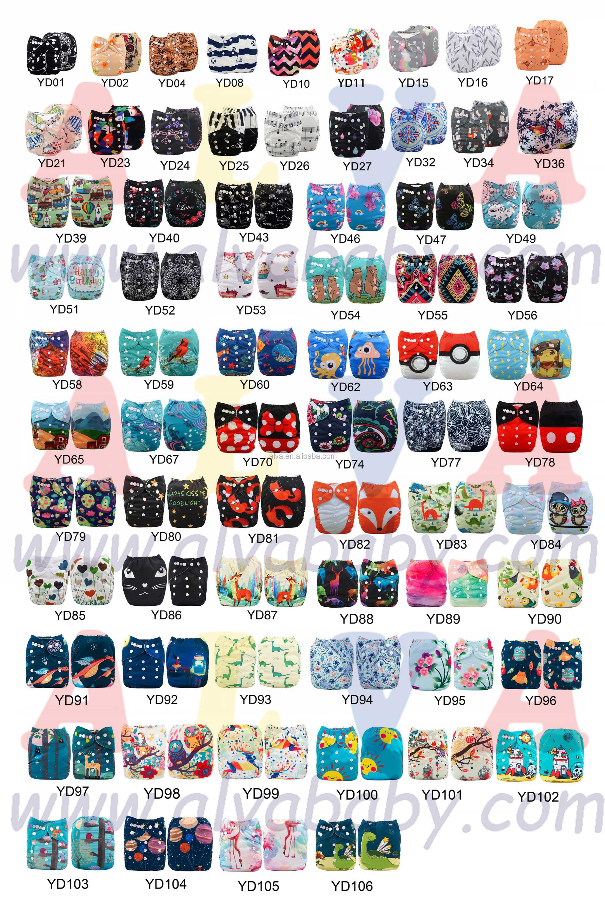 Alvababy Deer Design Baby Cloth Nappy Baby Diapers Manufacturers in China