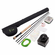 4 Segments Sections Fly Fishing Rod+Full Metal Reel+WaterProof Rod Bag+Lines+Box+Lure Super Rod Kit