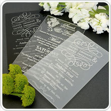 HOT SALE!!1 Engraved 11B Acrylic Wedding Invitation SAMPLE with Guest Name & Envelope