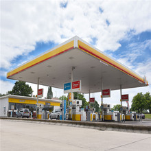 Galvanized Light Steel Structure Space Frame Gas Station Roof Canopy Design