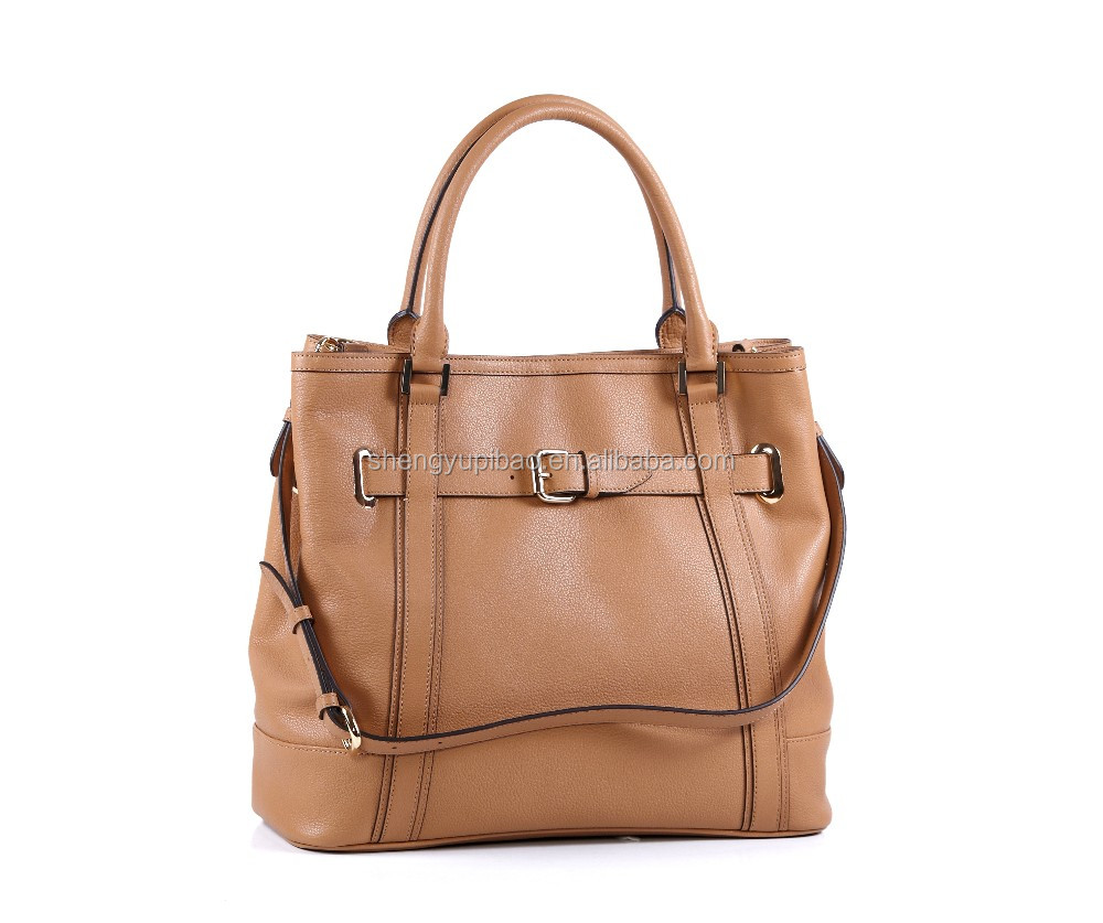High quality leather tote bag designer vintage handbag
