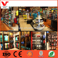 2015 clothes shop fitting modern clothing showroom interior design with high quality