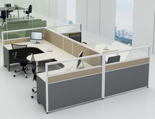 computer desk 4 seat office workstation cubicle