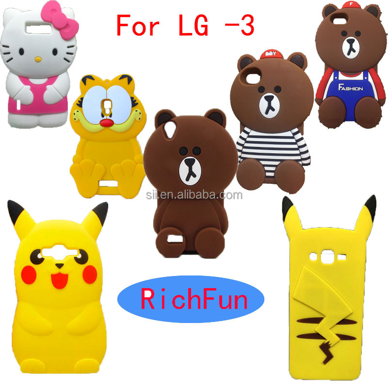 Hot 3D Lovely Cute Cartoon Brown Bear Soft Silicon Back <strong>Cover</strong> Phone Case For LG Optimus K4 K5 K7 K8 K10 <strong>Q10</strong> Q7 Q5