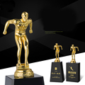 creative custom lettering sports jump diving march metal crystal award trophy for souvenior