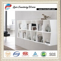 Solid Stone white color new simple Design Living Room furniture Bookcase