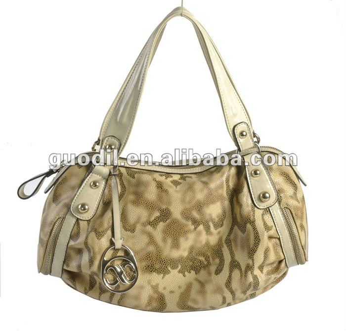 new design flower print pu bag ladies handbags fashion!