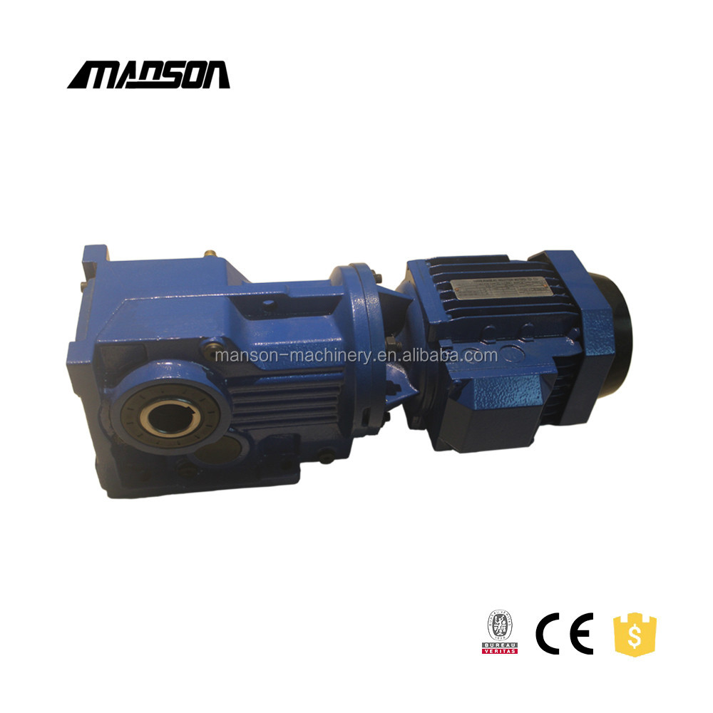 Helical Bevel Gear Speed Reducers 90 Degree Gear Units Right Angle Gearbox KAT97