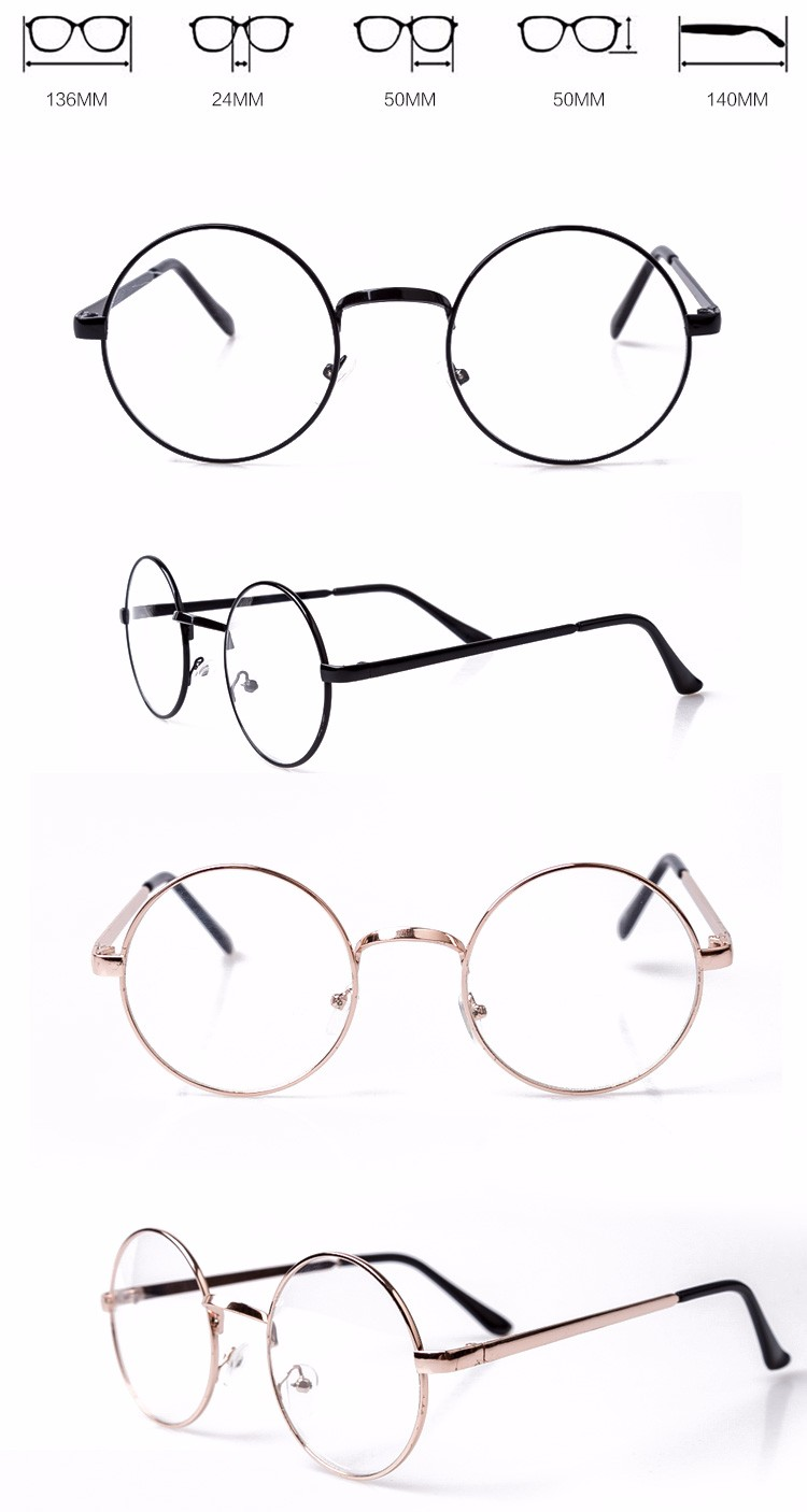 China wholesale unisex retro anti radiation italy designer custom logo round metal eyeglass