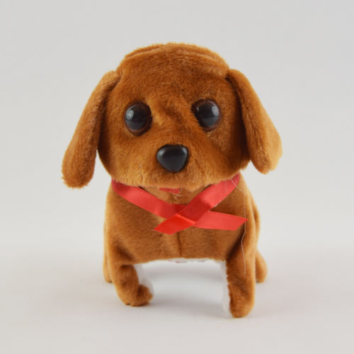 Walking Barking Plush Cute Pet Puppy Battery Operated Battery Dog Toy